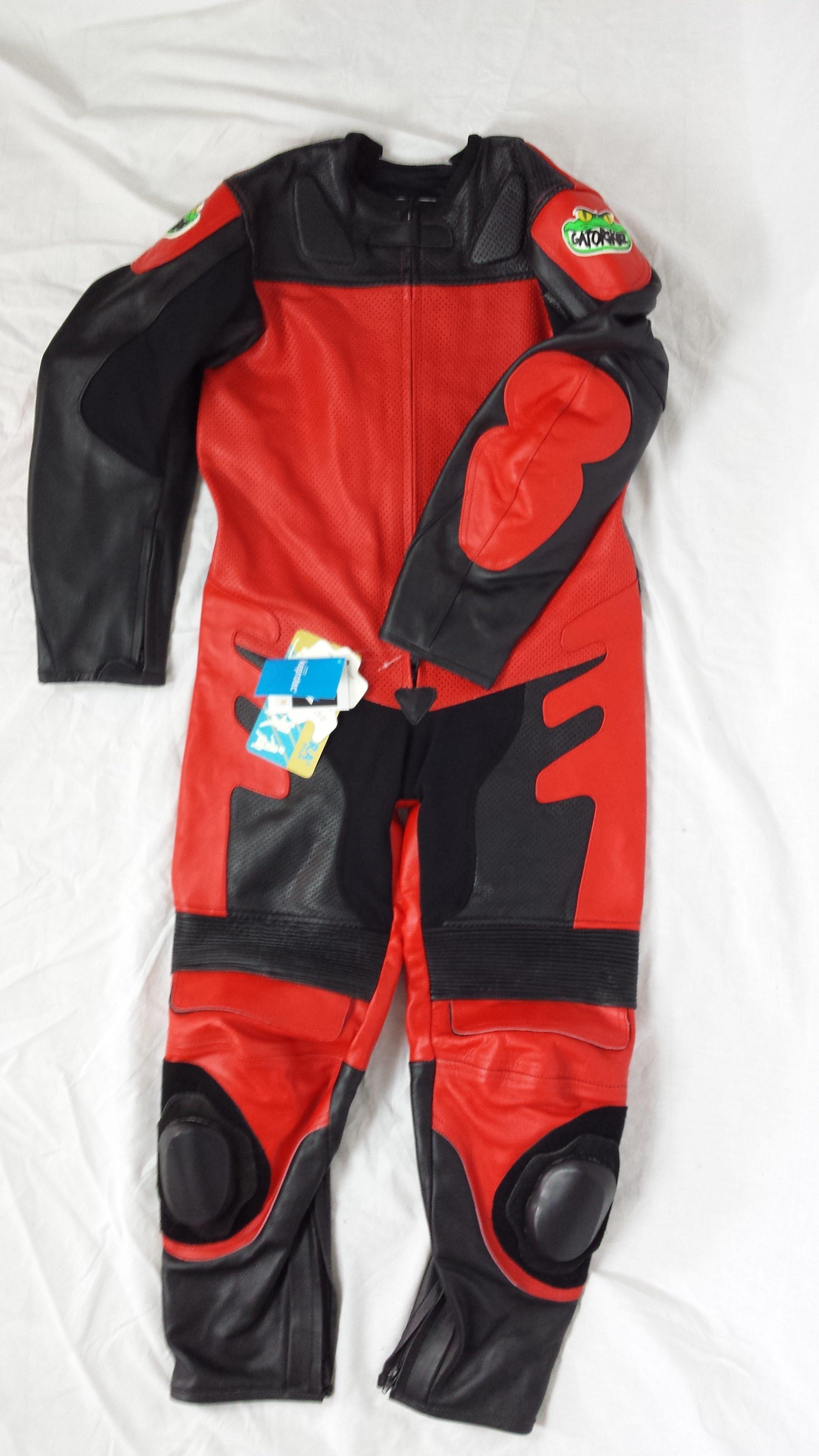 Gatorskinz Juniors Full Leather Motorcycle Racing Suit
