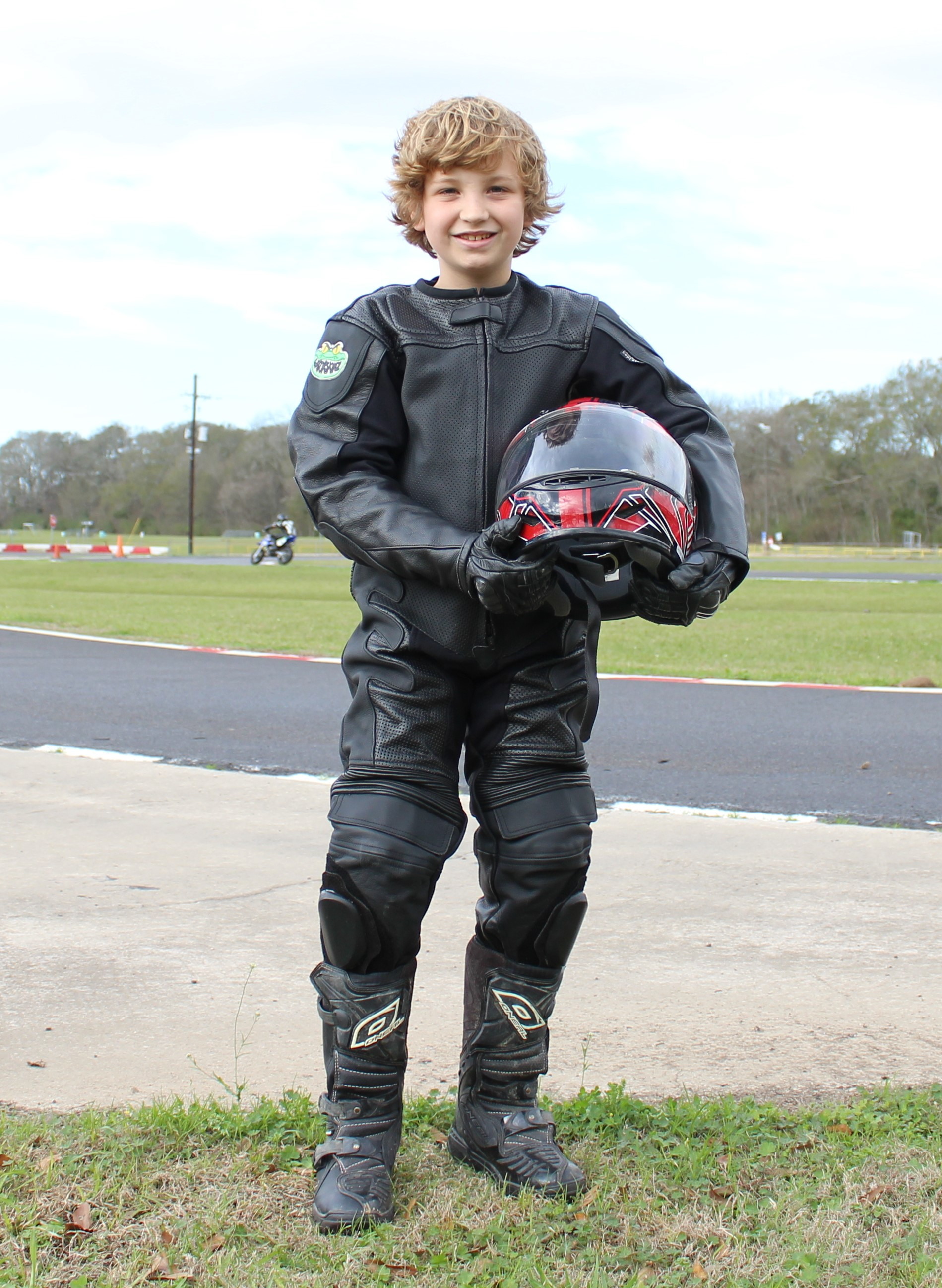 leather motorcycle suit racing juniors leathers suits children trey